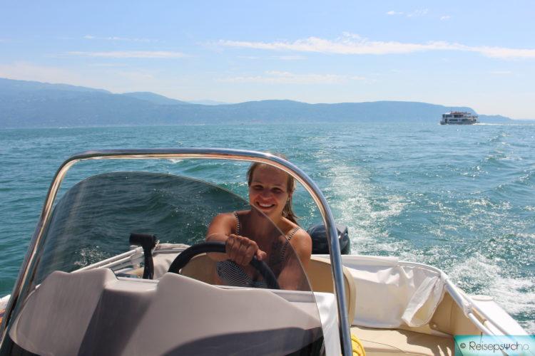 Motorboot fahren am Gardasee