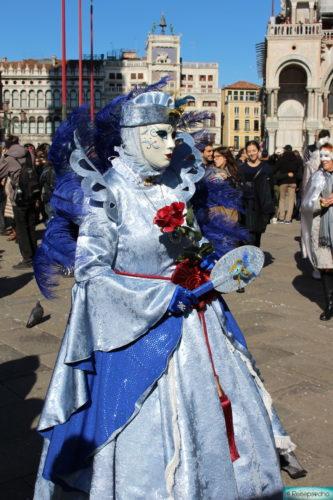 Karneval in Venedig - Masken in blau