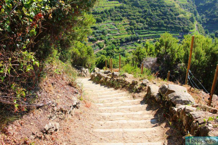 Cinque Terre Wanderweg mit Stufen