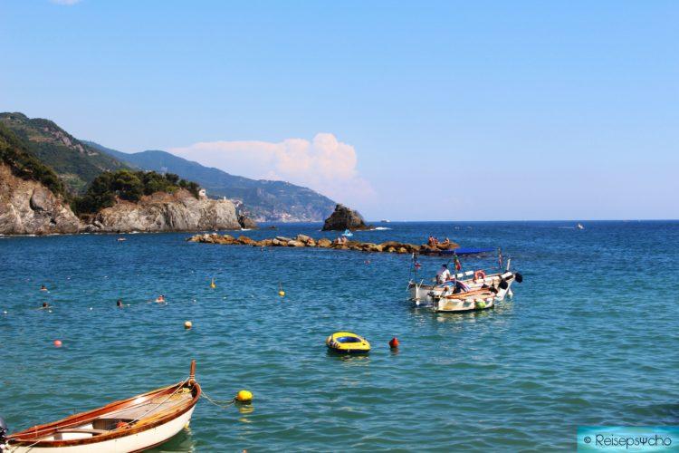 Am Strand von Monterosse in den Cinque Terre