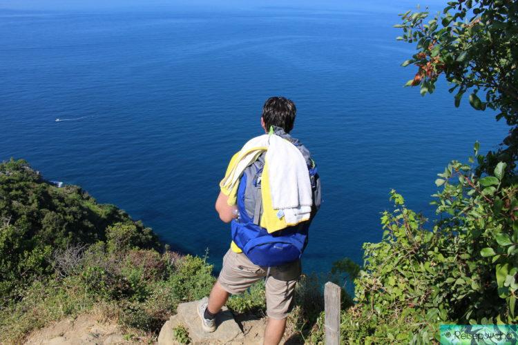 Cinque Terre Aussicht auf das Meer