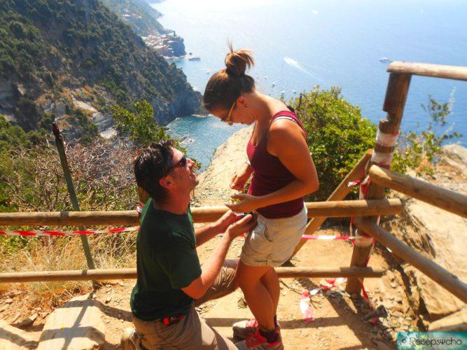 Heiratsantrag in den Cinque Terre