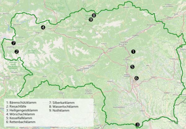 Klamm Steiermark Karte