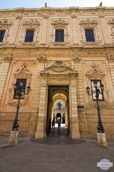 Lecce in Italien, Fassade im Stil des Lecceser Barock