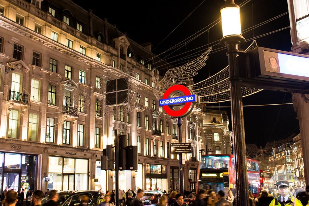 Abendliches Shoppen in der Oxford Street