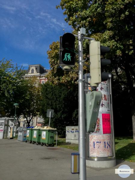 Ampelpärchen grün Wien