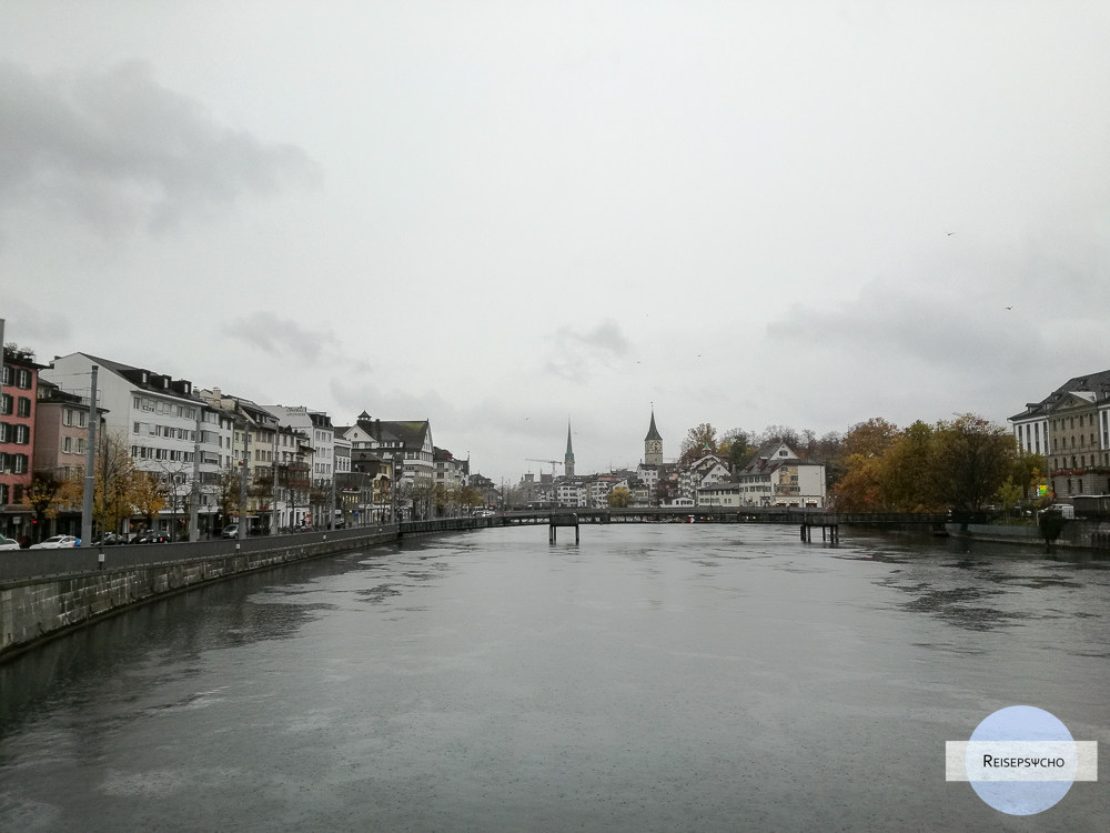 Ein Tag in Zürich – Spaziergang im Regen