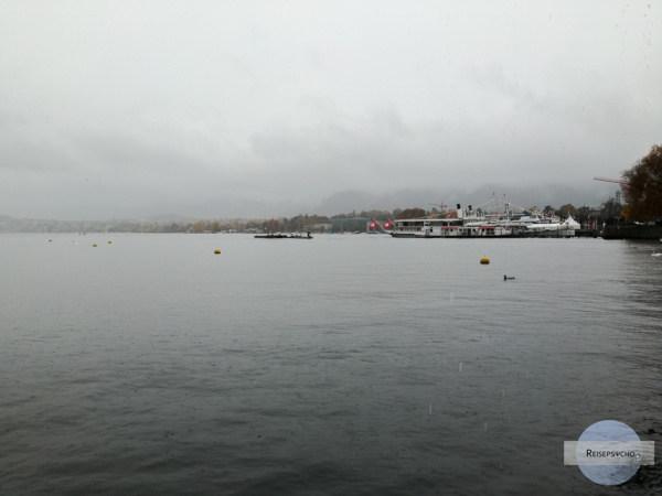 Zürichsee im Regen
