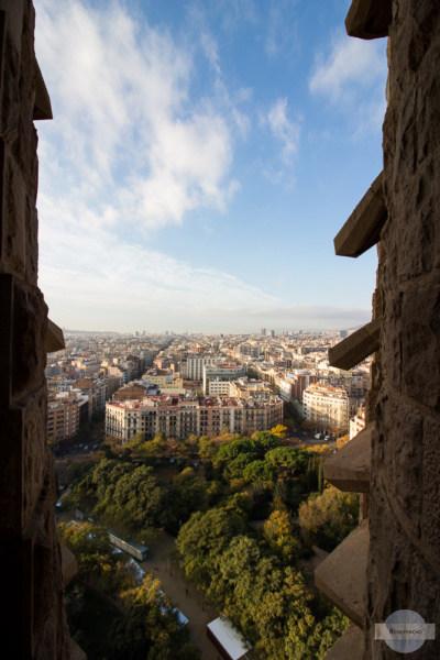 Ausblick vom Turm der Sagrada Familia