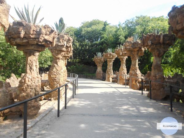 Weg im Park Güell