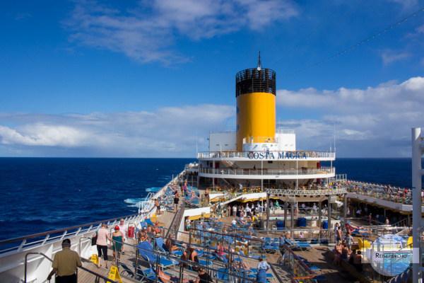 Costa Magica am Atlantik