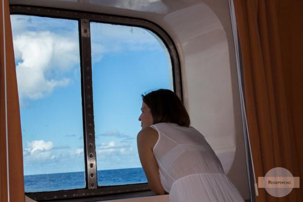 Außenkabine am Schiff mit Fensterblick
