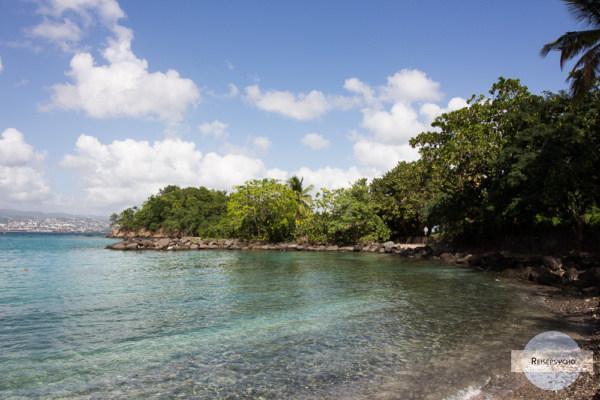 Strand in Les trois Ilets auf Martinique