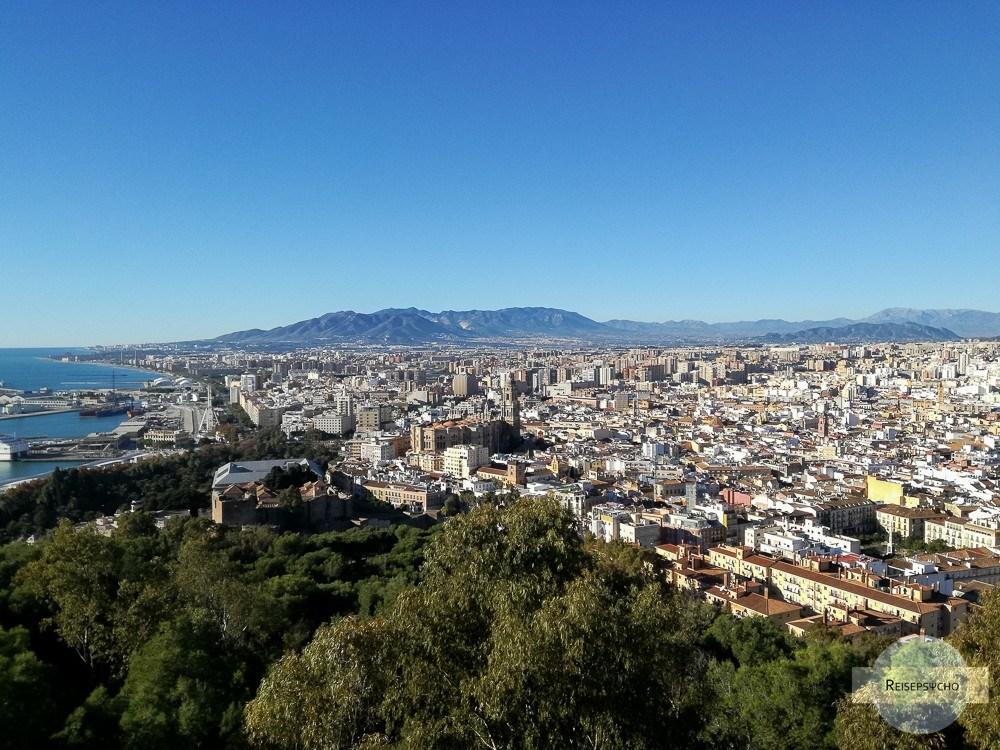 Ausblick auf Malaga