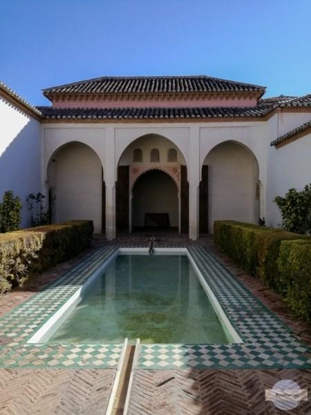 Andenken an die muslimische Zeit in Malaga in der Alcazaba