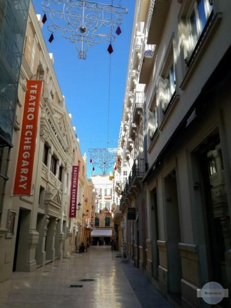 Saubere Gassen in der Altstadt von Malaga
