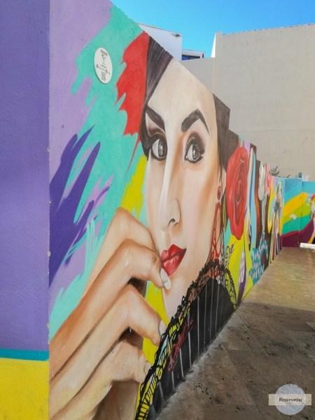 Streetart an einer Mauer in Malaga
