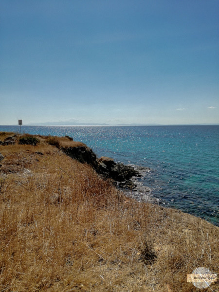 Felsige Küste in Taranto