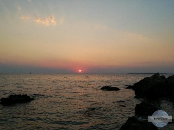 Sonnenuntergang im ionischen Meer bei Tarent