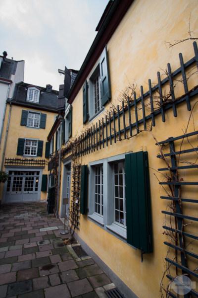 Im Innenhof des Geburtshauses von Beethoven in Bonn