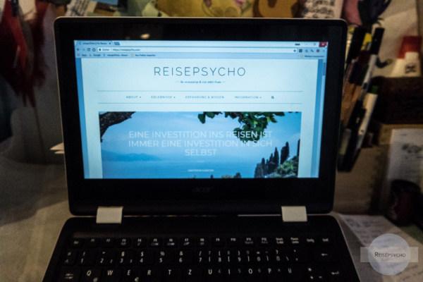 Startseite meines Blogs