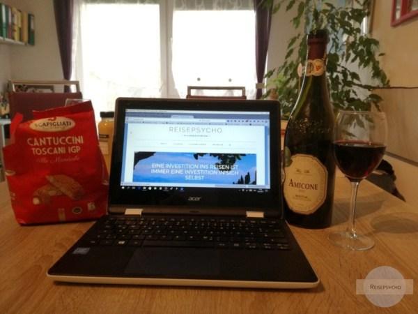 Bloggen mit Wein und Keksen