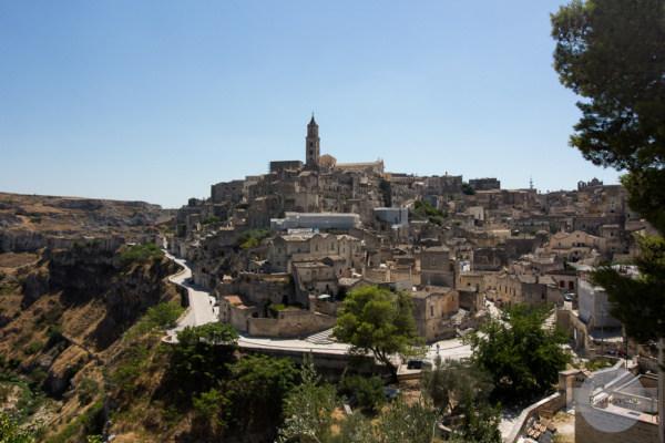 Blick auf Matera von San Agostino aus