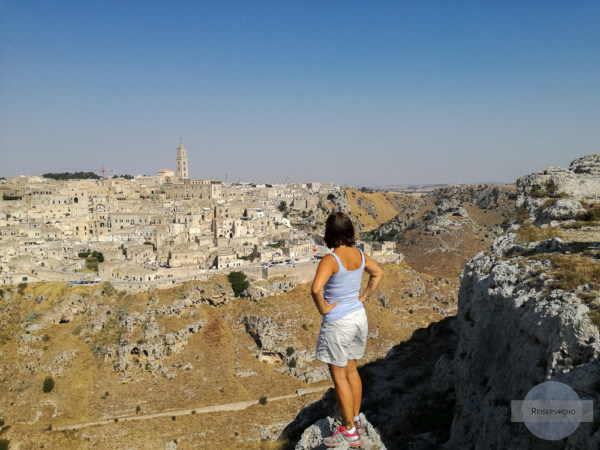 Blick von der Belvedere auf Matera