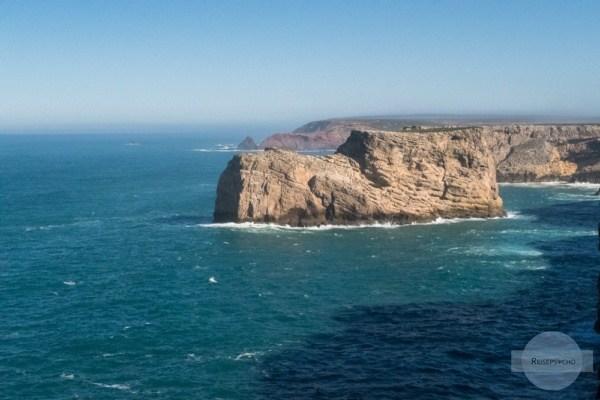 Der Blick von Cabo de Sao Vicente in Richtung Norden - die Costa Vicentina