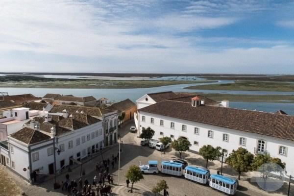 Ausblick von der Kirche Santa Maria in Faro im Winter