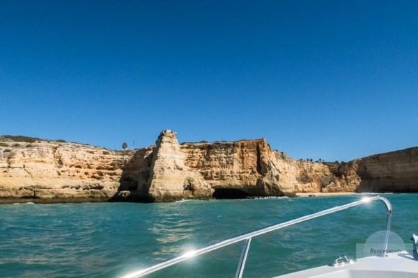 Bootstour an der Küste der Algarve
