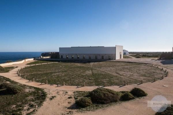 Die riesige Windrose in der Fortaleza de Sagres
