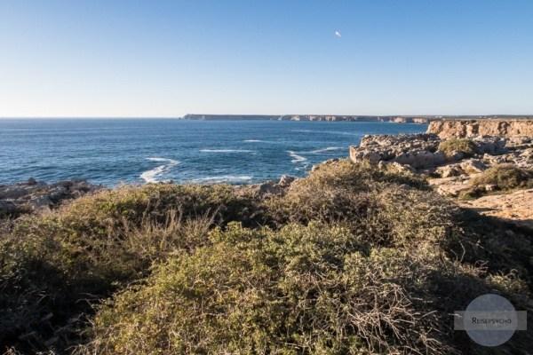 Blick auf das Cabo de Sao Vicente in Portugal