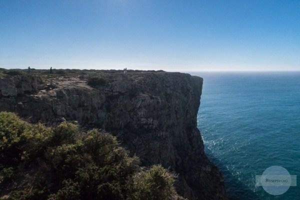 Die faszinierend hohen Klippen am Cabo Sao Vicente