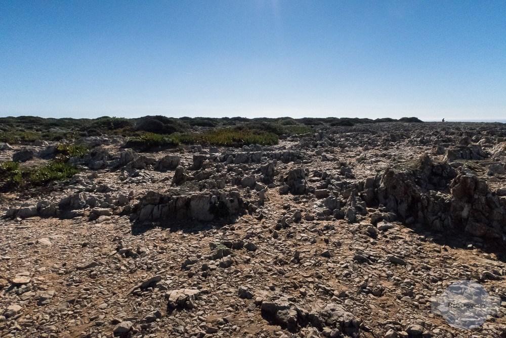 Karge Landschaft am Cabo de Sao Vicente, dem südwestlichsten Punkt Europas