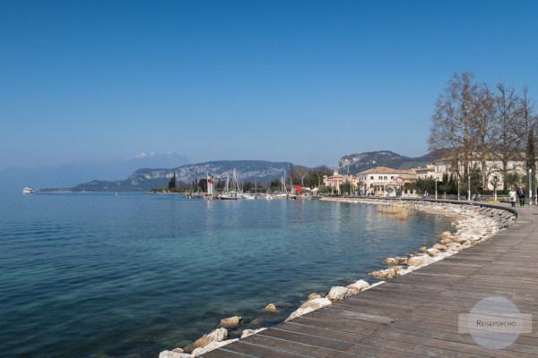 Die Promenade von Bardolino am Gardasee