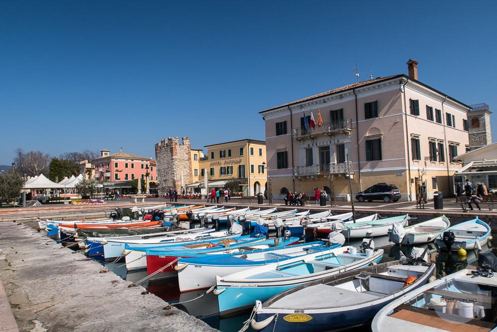 Hafen von Bardolino am Gardasee