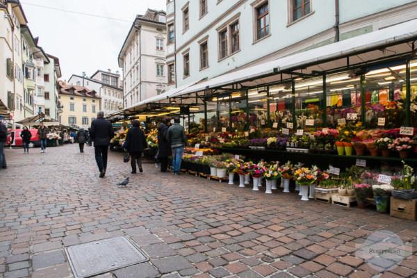 Markt in Bozen in der Altstadt