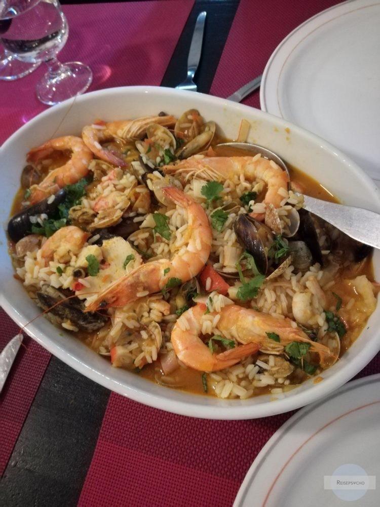 Reis mit Meeresfrüchten - Essen an der Algarve