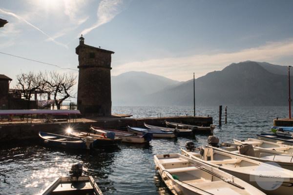 Hafen von Cassone bei Malcesine am Gardasee