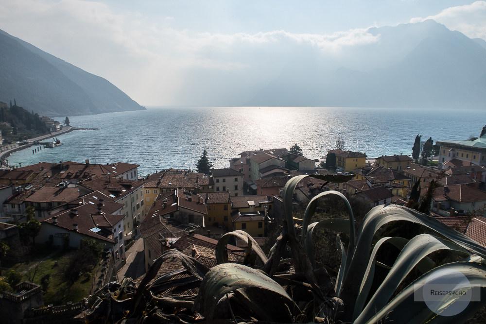 Blick vom Belvedere in Torbole auf den Gardasee