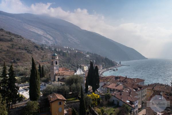 Torbole von oben - es war auch Station auf Goethes italienischer Reise