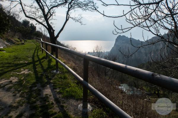 Der Picknickplatz am oberen Ende des Valle di Santa Lucia.