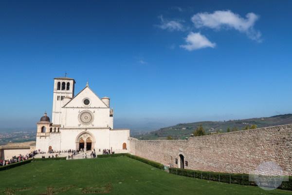 Die wunderschöne Basilika des Hl. Franziskus in Assisi