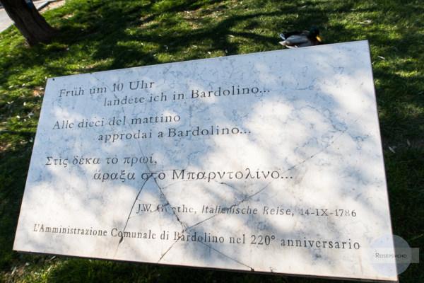 Schild von Goethe in Bardolino