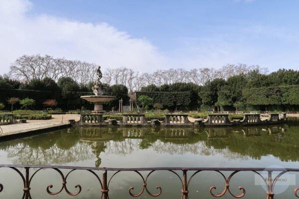 Der Teich im Giardini Boboli