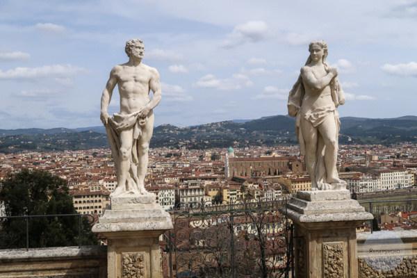 Ein Blick auf Florenz im Giardino Bardini