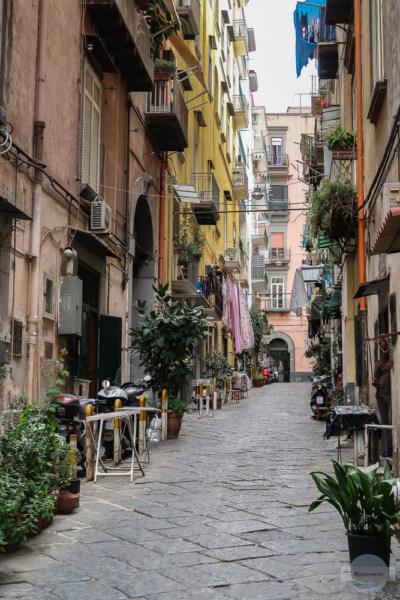 Gasse mit Pflanzen in Neapel