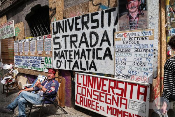 Strada Matematika / Straße der Mathematik in Neapel