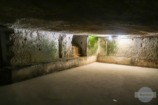 Raum im Untergrund von Neapel